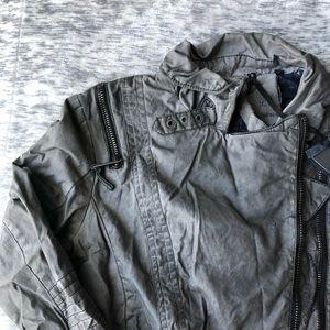 Jackets & Blazers - Grey Moto Jacket